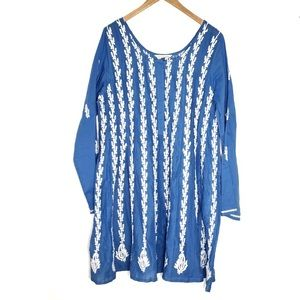 Soft Surroundings Tunic Mumbai Nights Size L